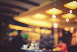 Blurred cafe - retro effect style photo